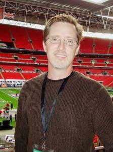 Me at Wembley Stadium in 2009.