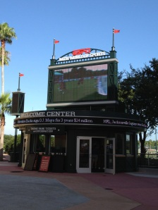 The Welcome Center at ESPN Wide World of Sports integrates the athletic experience and the Disney experience for participants and families.