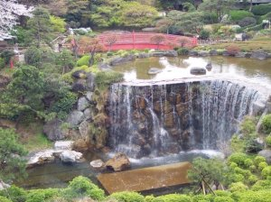 The 400-year-old Japanese garden at the New Otani in Tokyo, site of my interview of a lifetime with Santa himself.