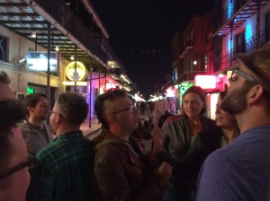 Bloggers on Bourbon Street.