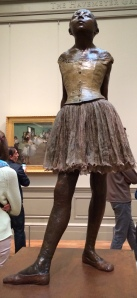 Fourteen-year-old dancer by Degas at the Met.