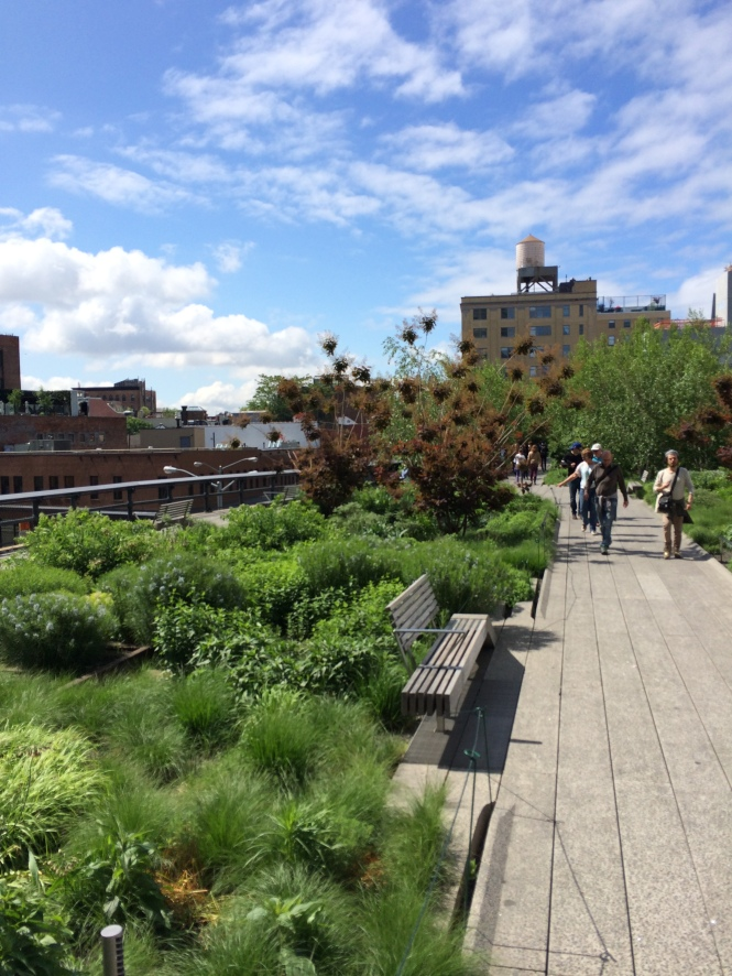 The southern tip of the High Line park in New York.