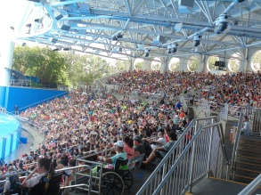 Shamu Stadium was packed for the Wednesday afternoon performance of One Ocean, SeaWorld Orlando's killer whale show.