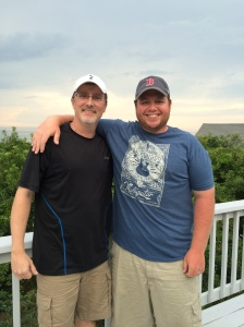 Aaron Gouveia and me at Cape Cod this past August. He's a fiery New England sports fan, but the NFL's stupidity regarding Ray Rice and domestic violence is making him feel guilty about watching and supporting football.