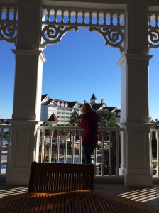 An outdoor balcony at the Grand Floridian. Ideal for rest, relaxation and one last Food and Wine Festival memory.