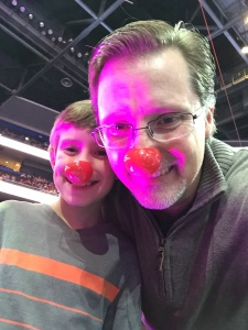 The one-hour pre-show allowed us to visit animals and performers up close. It also gave us the chance to take a clown nose selfie.