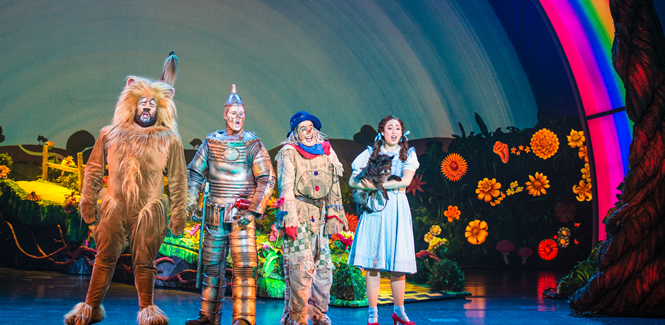 The Cowardly Lion, the Tin Man, the Scarecrow, Toto and Dorothy bring the familiar, beloved story to life at the Straz Center in Tampa.